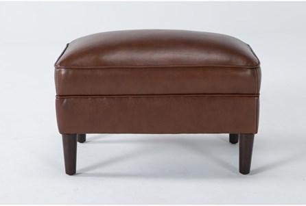 Tara Leather Ottoman - Main