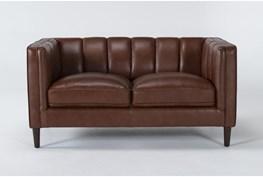 Tara Leather Loveseat