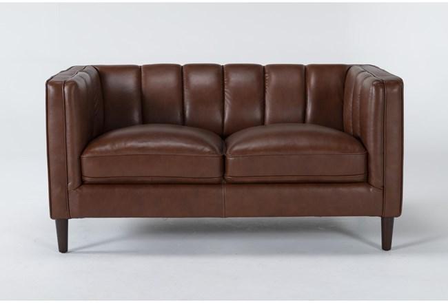 Tara Leather Loveseat - 360