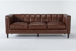 """Tara Leather 88"""" Sofa"""