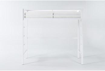 Orson White Metal Loft Bed