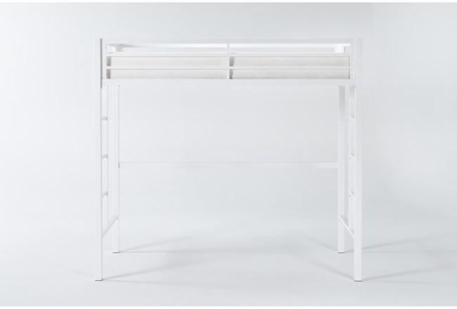 Orson White Metal Loft Bed - 360