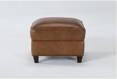 Theodore Honey Leather Ottoman
