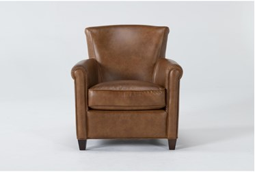 Theodore Honey Leather Arm Chair