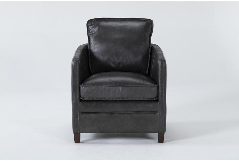 Simon Slate Leather Arm Chair