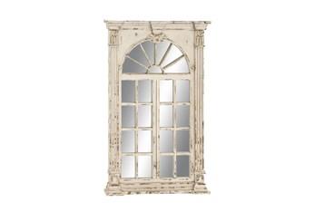 Mirror-52 Inch Antique White Door