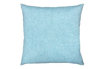 20X20 Spa Blue Textured Solid Outdoor Throw Pillow