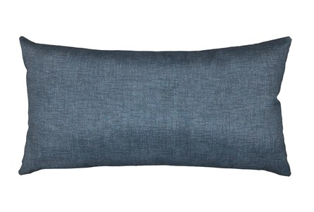 14X26 Black Charcoal Textured Solid Outdoor Throw Pillow - Main