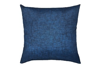 20X20 Navy Blue Textured Solid Outdoor Throw Pillow