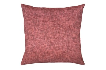 20X20 Terracotta Red Textured Solid Outdoor Throw Pillow