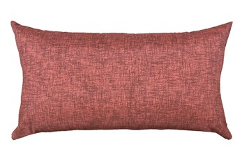 14X26 Terracotta Red Textured Solid Outdoor Throw Pillow