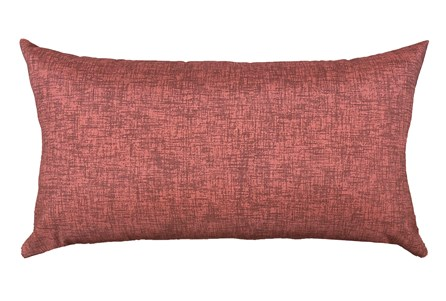 14X26 Terracotta Red Textured Solid Outdoor Throw Pillow - Main