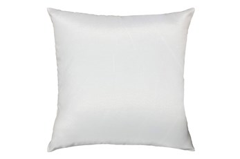 20X20 White Solid Outdoor Throw Pillow