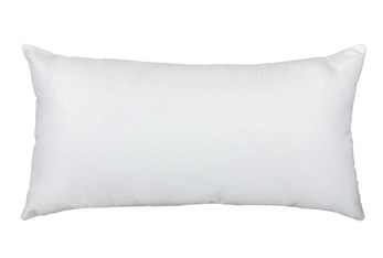 14X26 White Solid Outdoor Throw Pillow