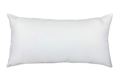 14X26 White Solid Outdoor Throw Pillow - Main