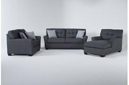 Jacoby Slate 3 Piece Living Room Set