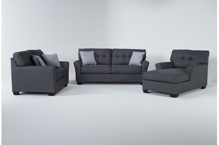 Jacoby Slate 3 Piece Living Room Set - Main