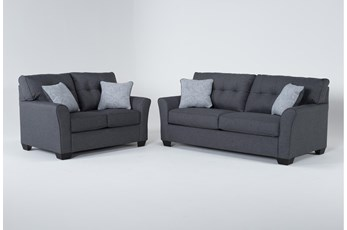 Jacoby Slate 2 Piece Living Room Set With Full Sleeper