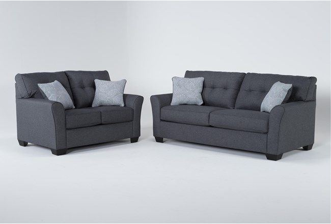 Jacoby Slate 2 Piece Living Room Set With Full Sleeper - 360