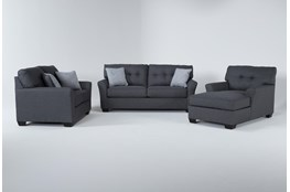 Jacoby Slate 3 Piece Living Room Set With Full Sleeper