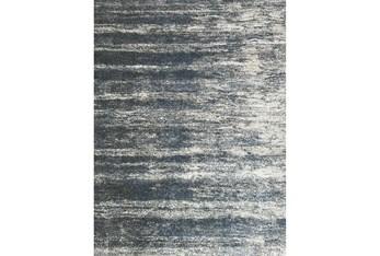 "5'3""x7'5"" Rug-Wave Sky Blue & Grey"
