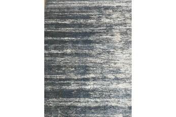 94X134 Rug-Wave Sky Blue & Grey