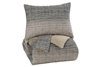 Eastern King Duvet-3 Piece Set Ombre Brown & Charcoal