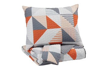 Full Coverlet-3 Piece Set Geometric Multi