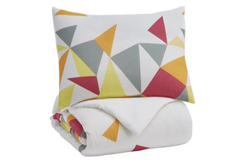 Twin Comforter-2 Piece Set Geometric Bright Multi