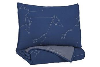 Twin Comforter-2 Piece Set Constellation Navy