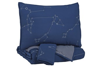 Full Comforter-3 Piece Set Constellation Navy