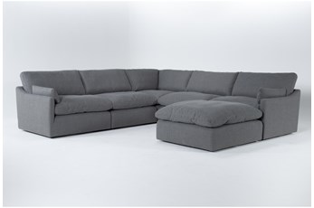 Jil II 5 Piece Sectional With Ottoman