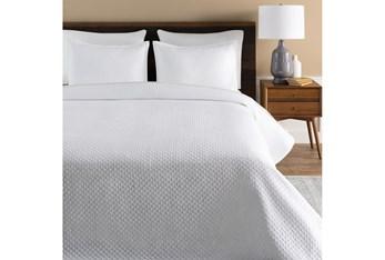 Eastern King Duvet-3 Piece Set Cotton Blend Diamonds White