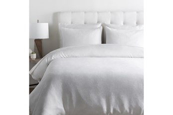 Full/Queen Duvet-3 Piece Set Linen Solid White