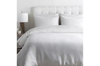 Eastern King Duvet-3 Piece Set Linen Solid White