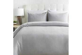 Eastern King Duvet-3 Piece Set Linen Light Grey