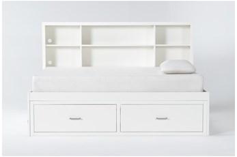 Reese White Full Roomsaver Bed