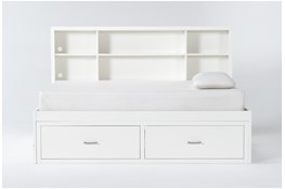 Reese White Twin Roomsaver Bed