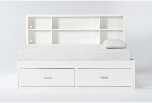 Reese White Twin Roomsaver Bed - 360