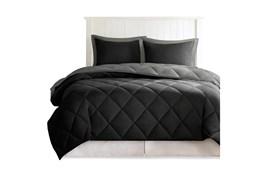 Twin/Twin Xl Comforter-2 Piece Set Reversible Diamond Quilting Grey