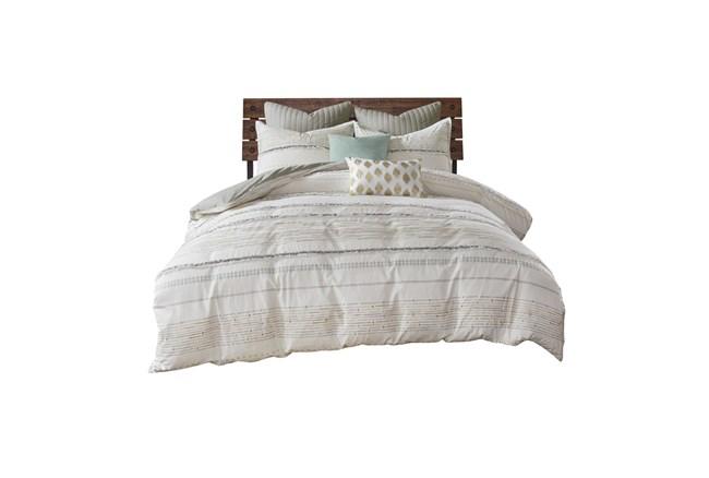 Full/Queen Comforter-3 Piece Set Trim Multi - 360
