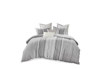 Full/Queen Comforter-3 Piece Set Boho Chic Grey