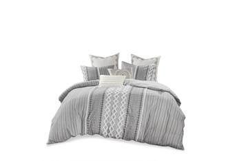Full/Queen Comforter-3 Piece Set Boho Chic Grey