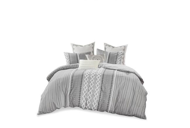 Full/Queen Comforter-3 Piece Set Boho Chic Grey - 360