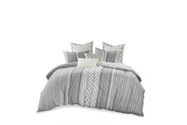 Eastern King/California King Comforter-3 Piece Set Boho Chic Grey