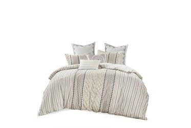 Full/Queen Comforter-3 Piece Set Boho Chic Cream