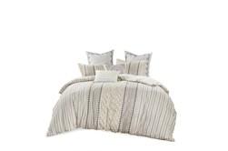Eastern King/California King Comforter-3 Piece Set Boho Chic Cream