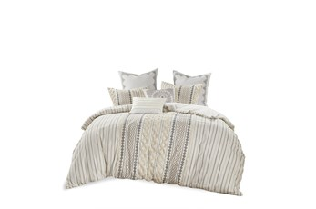 Eastern King/California King Comforter-3 Piece Set Boho Chic Cream