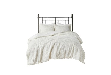 Twin/Twin Xl Comforter-2 Piece Set Ornate Pattern Cream