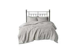 Full/Queen Comforter-3 Piece Set Ornate Pattern Grey